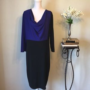 Narciso Rodriguez purple and black dress, size XL